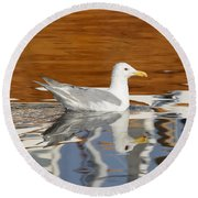 Glaucous-winged Gull Round Beach Towel