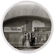 Glen Lyon Pa. Family Theatre Early 1900s Round Beach Towel