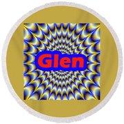 Glen Round Beach Towel