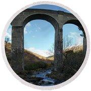 Glenfinnan Viaduct Round Beach Towel