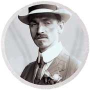 Glenn Curtiss - Aviation Pioneer And Father Of Aircraft Industry - 1909 Round Beach Towel