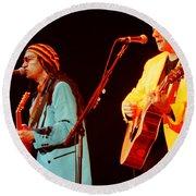 Glenn Frey Joe Walsh-1029 Round Beach Towel
