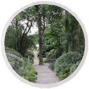 Glenveagh Castle Gardens 4305 Round Beach Towel