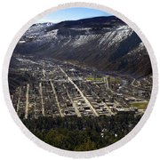 Glenwood Springs Canyon Round Beach Towel