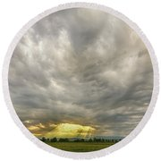 Glimmer Of Hope Round Beach Towel