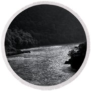 Glimmer On The Ganges Round Beach Towel