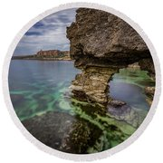 Glimpses Of Sicily Round Beach Towel