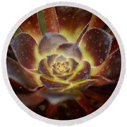 Glistening Glowing Garden Jewel Round Beach Towel