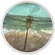 Glistening In Nature Round Beach Towel