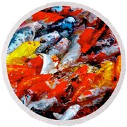 Glittering Of Koi Round Beach Towel