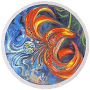 Global Lily Round Beach Towel