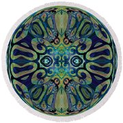 Mandala   56 Round Beach Towel