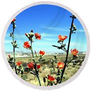 Globe Mallows Round Beach Towel