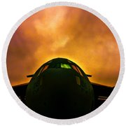 Globemaster In The Morning Round Beach Towel