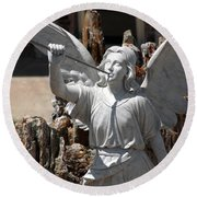 Gloria In Excelsis Deo Round Beach Towel
