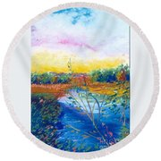 Glorious Day Round Beach Towel