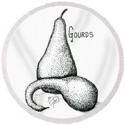 Glorious Gourds Round Beach Towel