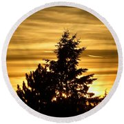 Glorious Guildford Sunset Round Beach Towel