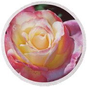 Glorious Pink Rose Round Beach Towel