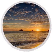 Glorious Playa Sunset Round Beach Towel