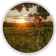 Glorious Sunset Round Beach Towel