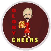 Glory Cheers Round Beach Towel