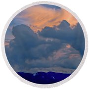 Glory Of Sunset Round Beach Towel
