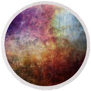 Glory Oil Abstract Painting Round Beach Towel