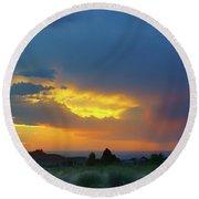Glory Rays - Albuquerque Round Beach Towel