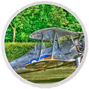 Gloster Gladiator 1938 Round Beach Towel