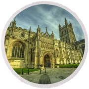 Gloucester Cathedral  Round Beach Towel