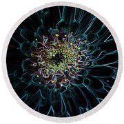 Glow Edge Flower Round Beach Towel