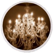 Glow From The Past Round Beach Towel