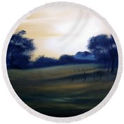 Glow Of Morn. Round Beach Towel
