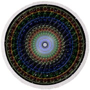 Glow Of The Ferris Wheel Round Beach Towel