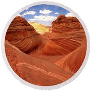 Glowing Butte At The Wave Round Beach Towel