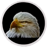 Glowing Eagle Round Beach Towel