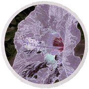 Glowing Hibiscus Round Beach Towel
