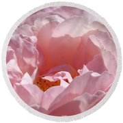 Glowing Pink Rose Flower Giclee Prints Baslee Troutman Round Beach Towel