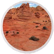 Glowing Sand In The Buttes Round Beach Towel