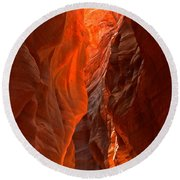 Glowing Walls Of Buckskin Gulch Round Beach Towel
