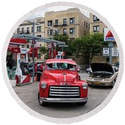 Gmc Pickup Round Beach Towel