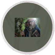 Gnome Wizard Round Beach Towel