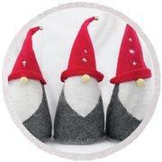 Gnomes Round Beach Towel