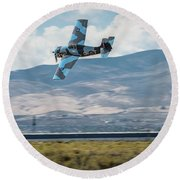 Go Fast Turn Left Fly Low Friday Morning Unlimited Broze Class Signature Edition Round Beach Towel