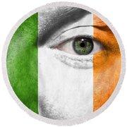Go Ireland Round Beach Towel by Semmick Photo