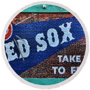 Go Red Sox Round Beach Towel
