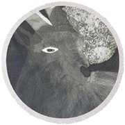Goat And Nux Round Beach Towel