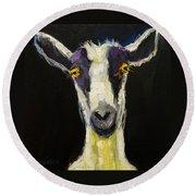 Goat Gloat Round Beach Towel